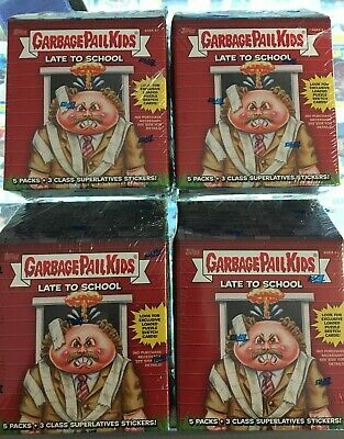 LOT O 4 2020 Topps Garbage Pail Kids Late to School Blaster Box Factory Sealed