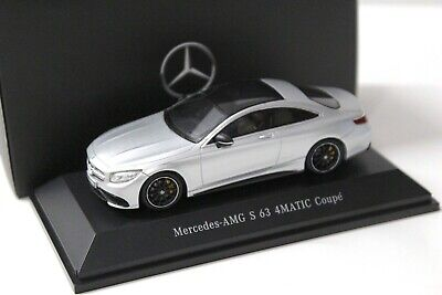 1:43 Spark Mercedes S63 AMG 4Matic Coupe silver DEALER NEW bei PREMIUM-MODELCARS