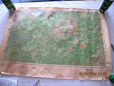 Knoxville TN Survey Map 1966 32 x 22 #179 Worn but Cool-B2