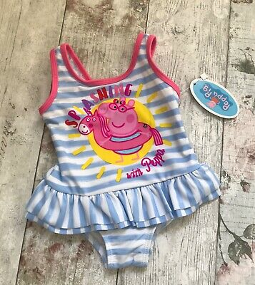 BNWT Peppa Pig Girls Swimming Costume Swimsuit. Age 1 - 5 years