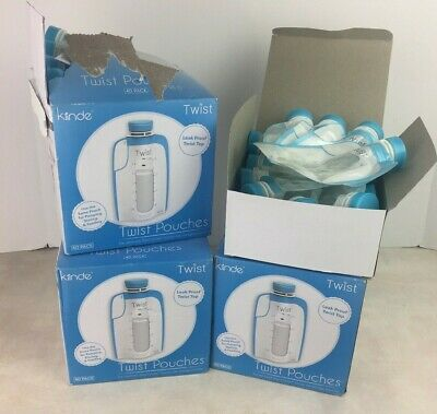 Kiinde Twist Pouches Breast Milk Storage Lot of 140 Pieces For Pumping Freezing
