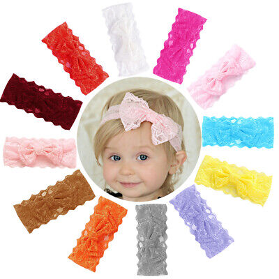 Accessory Baby Girls Daily Cute Kids Headband Styling Bowknot Knotted Lace Cloth