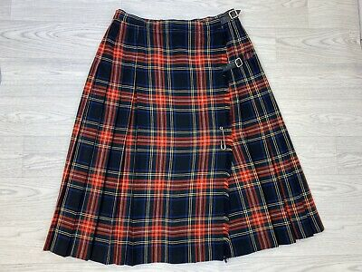 ST MICHAEL Vintage Red Tartan Kilt Skirt 14/16