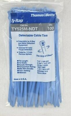 2-Packs of 100 Thomas & Betts TY525M-NDT Cable Ties CHEAPEST AROUND!