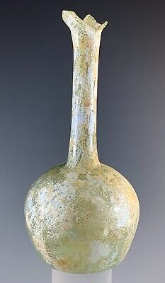 Ancient Roman Glass, Unguentarium; 100 B.c. - 200 A.d.! Nice Piece!
