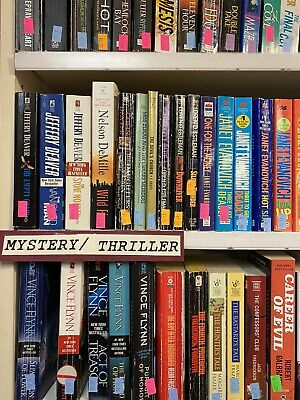 Mystery/Thriller Novels Lot of 20 Paperback Books, RANDOM/MIX