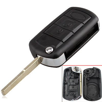 Replacement 3btn Remote Key Fob Case Shell for Land Rover Discovery Sport 3