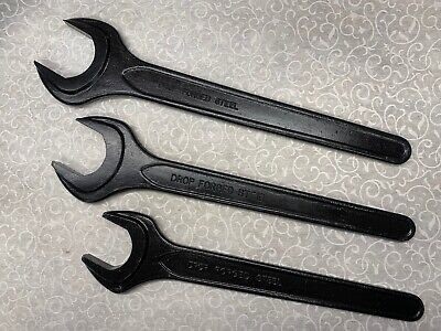 Set of 3 DROP FORGED STEEL Single Open End Metric Wrench 50MM, 46MM & 41MM