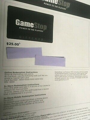 $25 Gamestop Gift Card (can buy up to two)