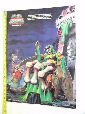 VINTAGE MASTERS OF THE UNIVERSE POSTER HE-MAN BUZZ OFF SLIME PIT, Earl Norem art