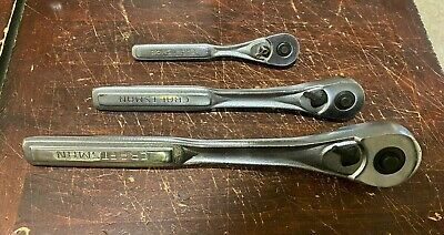 Craftsman Ratchet Lot Set 1/4 3/8 1/2 VK VJ VT Made in USA Wrenches Includes 3