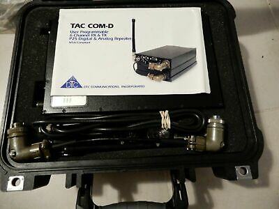 DTC Communications TAC/COM-D-2 & TAC/COM-100 Tactical Repeater Transmitter