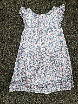 Mini Boden ~ Girls Purple Blue Floral Dress ~ Size 4-5