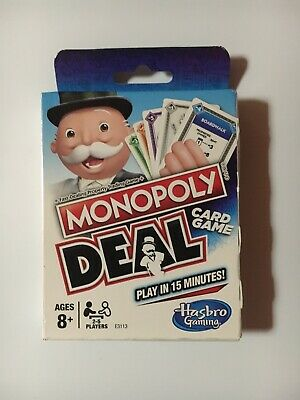 Monopoly Deal Card Game no board NEW-FACTORY SEALED Parker Brothers