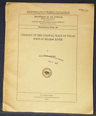 USGS GEOLOGY OF THE TEXAS COASTAL PLAIN Fossils Photos History 1924 With MAPS!