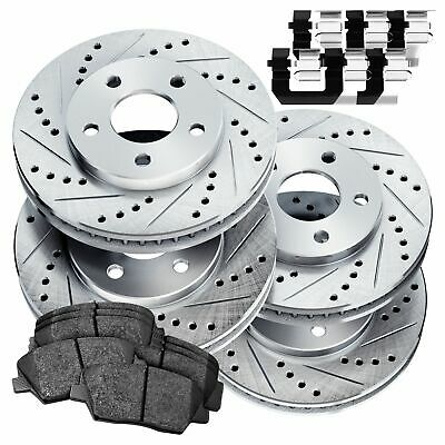 Front And Rear Drill Slot Brake Rotors For 2013-2016 Ford C-Max Ford Escape