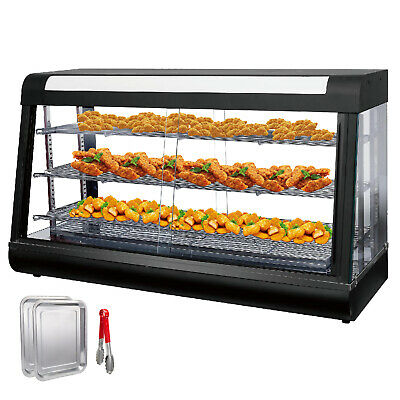 Commercial Food Warmer patty warmer pizza display case sliding doors HOT GOOD