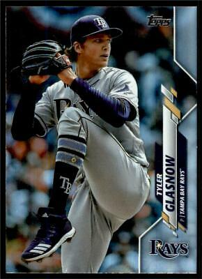 2020 Topps Series 1 Base Rainbow Foil Silver #305 Tyler Glasnow - Tampa Bay Rays