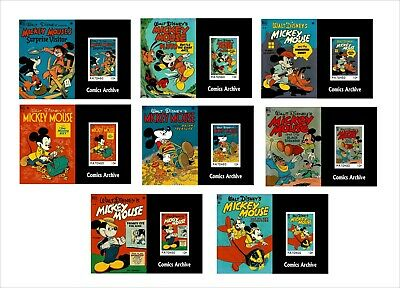 2020 MICKEY MOUSE PART1 DISNEY 16 SOUVENIR SHEETS unperforated animation COMICS