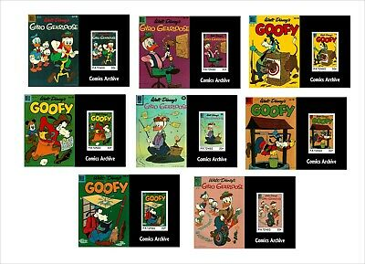 2020 DISNEY   GOOFY & GYRO   16 SOUVENIR SHEETS unperforated animation COMICS