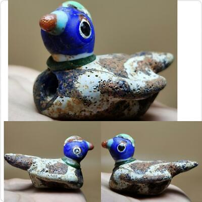 Antique beautiful Glass Lovely Unique Bird Bead size 5.6 cm