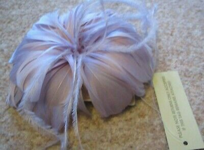 ACCESSORIZE Monsoon Facinator Lilac Feather Special Occasion Wedding Christening