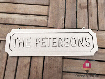 3D Personalised Wedding Mr & Mrs MDF Hanging Wall Plaque Street Road Sign
