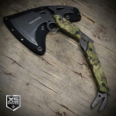 """13"""" Tactical Survival TOMAHAWK THROWING AXE Curved BATTLE HATCHET Camo MultiTool"""
