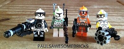 Lego Star Wars - Set Of 4 Clone Trooper Minifigures With Accessories