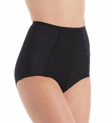 Shape S4002 Smoothing High Waist Full Brief Panty with Lace