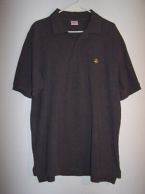 """Brooks Brothers """"346"""" Gray Polo Shirt, Men's Size Large"""