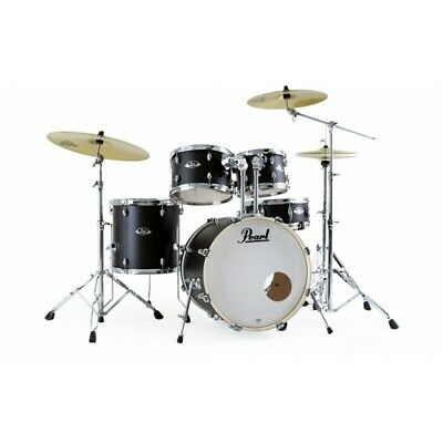 Batteria Acustica Pearl Export EXX725SBR/C761 Satin Shadow Black con Hardware e