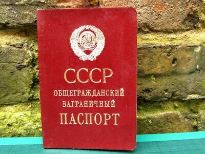 USSR Abroad Traveling Passport Personalized, Issued in USSR Soviet Latvia 1990