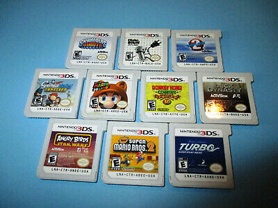 Lot of 10 Nintendo 3DS Games New Super Mario Bros 2 3D Land Donkey Kong Country