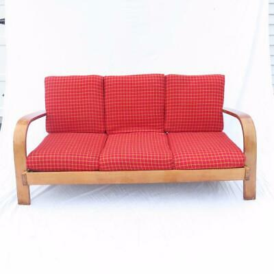 Russel Wright for Conant Ball Sofa American Modern Line Solid Maple Vintage