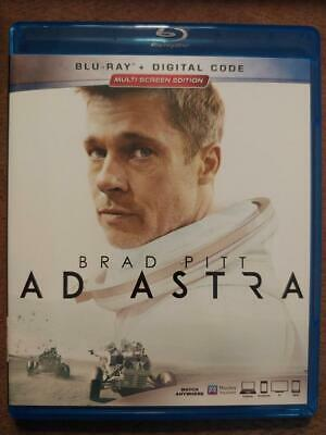 Ad Astra (Blu-ray, 2019) Like New, with unused digital code, starring Brad Pitt