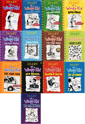 Diary Of A Wimpy Kid Collection 13 Books Set By Jeff Kinney (P~D~F)