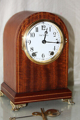 "ANTIQUE SETH THOMAS CABINET SHELF MANTLE CLOCK-Totally!-Restored- ""TUDOR""-1913"