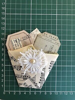 Junk Journal Essentials Pocket Tucks Tags Vintage Music Pages