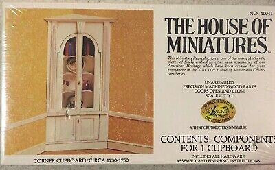 The House Of Miniatures CORNER CUPBOARD Dollhouse 40041 Sealed XACTO Rare