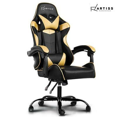 RETURNs Artiss Office Chair Gaming Chair Computer Chairs Recliner PU Leather Sea