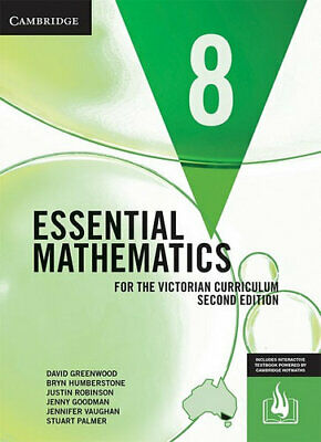 NEW Essential Mathematics for the Victorian Curriculum Year 8 Second Edition By