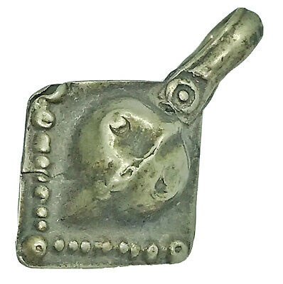 Antique Late Or Post Medieval Islamic Face Pendant Middle Eastern Charm Artifact
