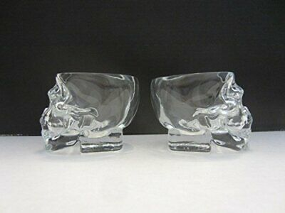 Set of 2 Authentic Crystal Head Vodka Skull Shape Shot Glasses