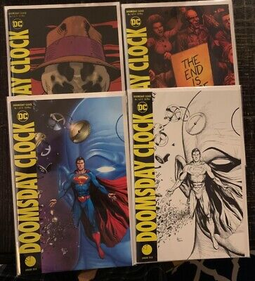 Doomsday Clock 1 B&W Midnight Release, Lenticular Variant Cover Set Nm Dc Comics