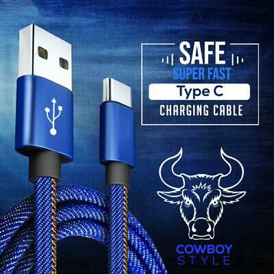 USB Type C Fast Charger Charging Data Cable For Samsung Huawei Google Oppo Nokia