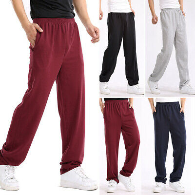 Homme Jogger Bottoms Ample Sport Gym Pantalon de Survêtement Poches Jogging