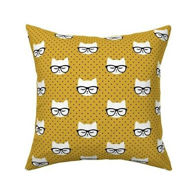 Cats Cat Faces Cute Trendy Baby Throw Pillow Cover w Optional Insert by Roostery