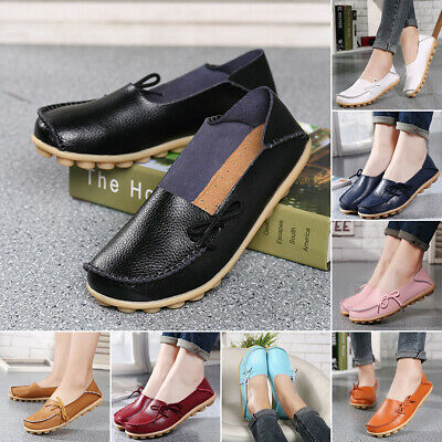 Comfort Women Ballet Flats Boat Shoes Work Casual Slip-On Loafer Shoes Soft