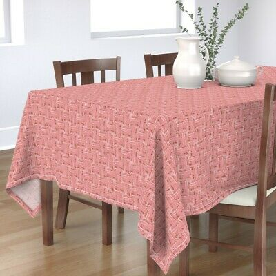 Tablecloth Mid Century Rose Pink Tile Cotton Sateen